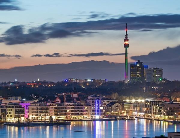 Dortmund Innenstadt mit Florianturm