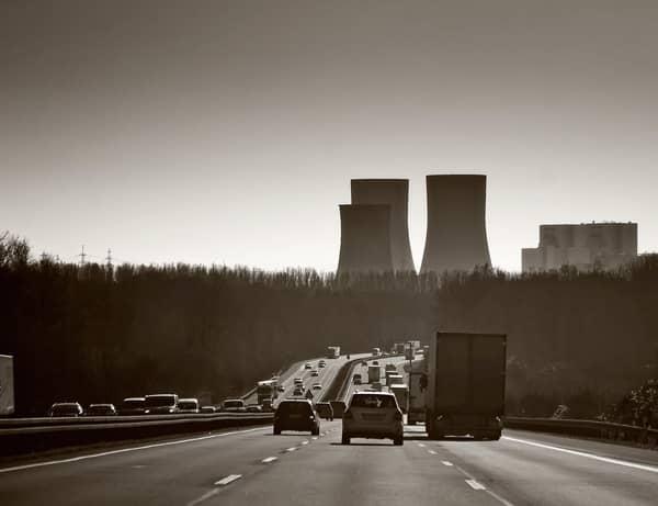 Autobahn A40 bei Duisburg