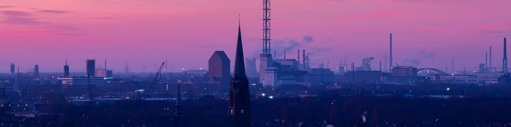 Aussicht auf die Duisburger Innenstadt